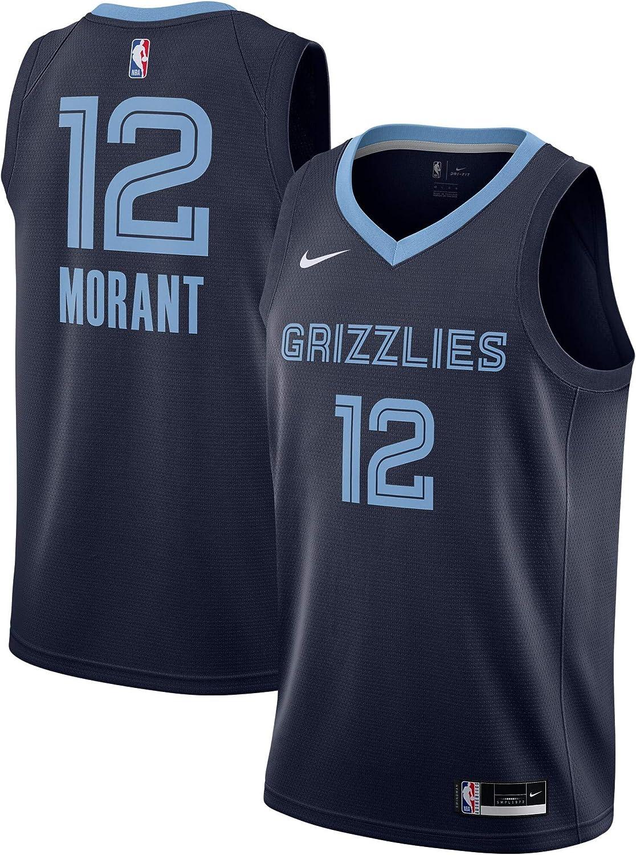 Nike Ja Morant Memphis Grizzlies NBA Boys Youth 8-20 Navy Icon Edition Dri-Fit Swingman Jersey