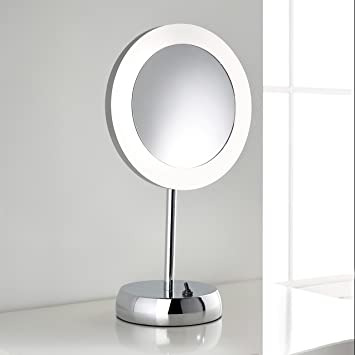Elko Freestanding LED Magnifying Vanity Mirror