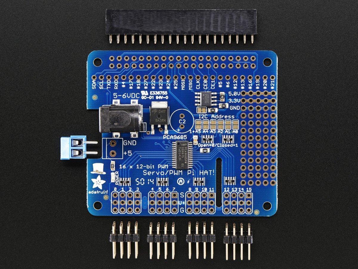 TECNOIOT 2pcs PCA9685 16 Channel 12 bit PWM Servo Driver I2C Interface