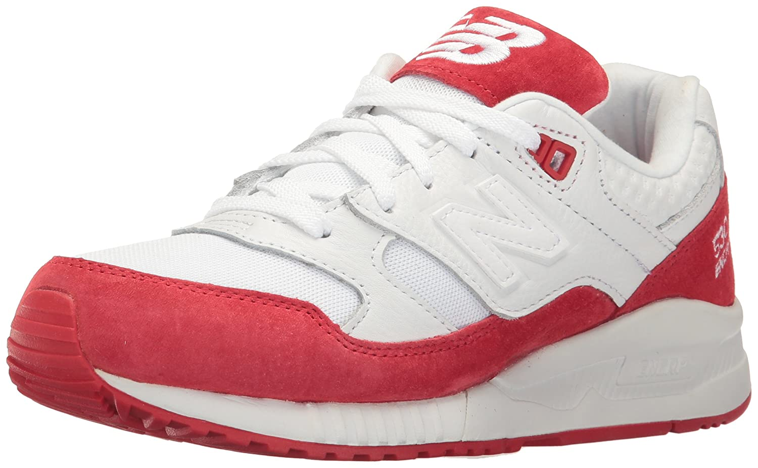 New Balance Women's 530 90s Running Lifestyle Fashion Sneaker B01M0LQYP5 7 B(M) US|White/Alpha Red