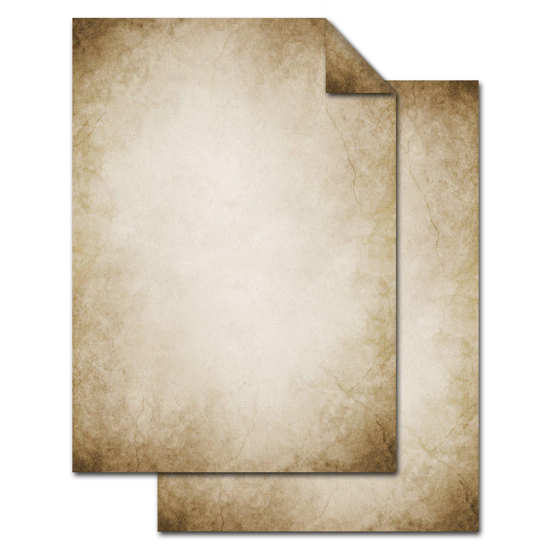 50 x Briefpapier und 50 x Briefumschl/äge Altes Papier Vintage