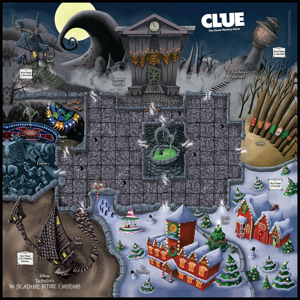 Amazon.com: Clue: Tim Burtons The Nightmare Before Christmas Board ...