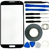 Kit Vitre de Remplacement pour Samsung Galaxy S4 incluant 1 Vitre de Remplacement pour Samsung Galaxy S4 i9500 / 1 Paire de Pincettes / 1 Rouleau de Ruban Adhésif 2mm / 1 Kit d'Outils / 1 Chiffon de Nettoyage en Micro-Fibres ECO-FUSED (Noir)