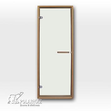 Saunatür Glas saunatür exclusiv 69 x 191 cm 8mm esg klarglas 45x90mm amazon de
