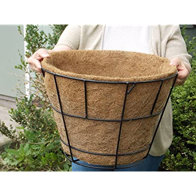 "Kinsman Molded Coco Liner Tapered w/Flat Bottom 16"" Dia x 11"" deep: Garden & Outdoor"