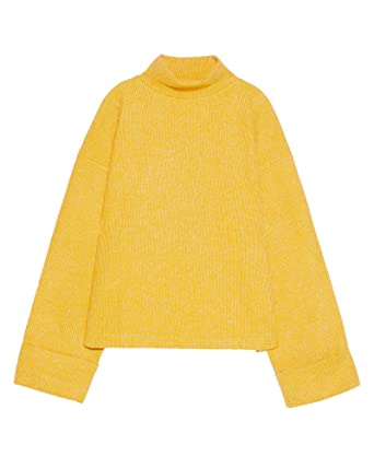 81408460 Zara Women High Neck Sweater 1198/151 Yellow at Amazon Women's ...