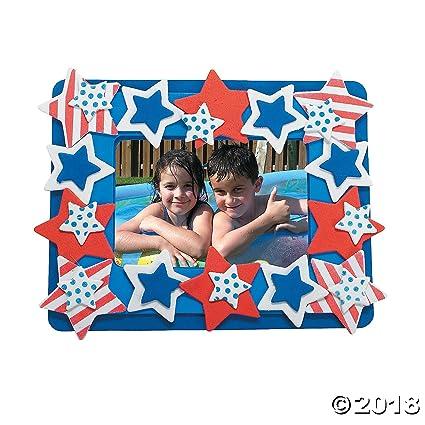 Amazon.com: Patriotic Photo Frame Magnet Foam Craft Kit - Crafts for ...