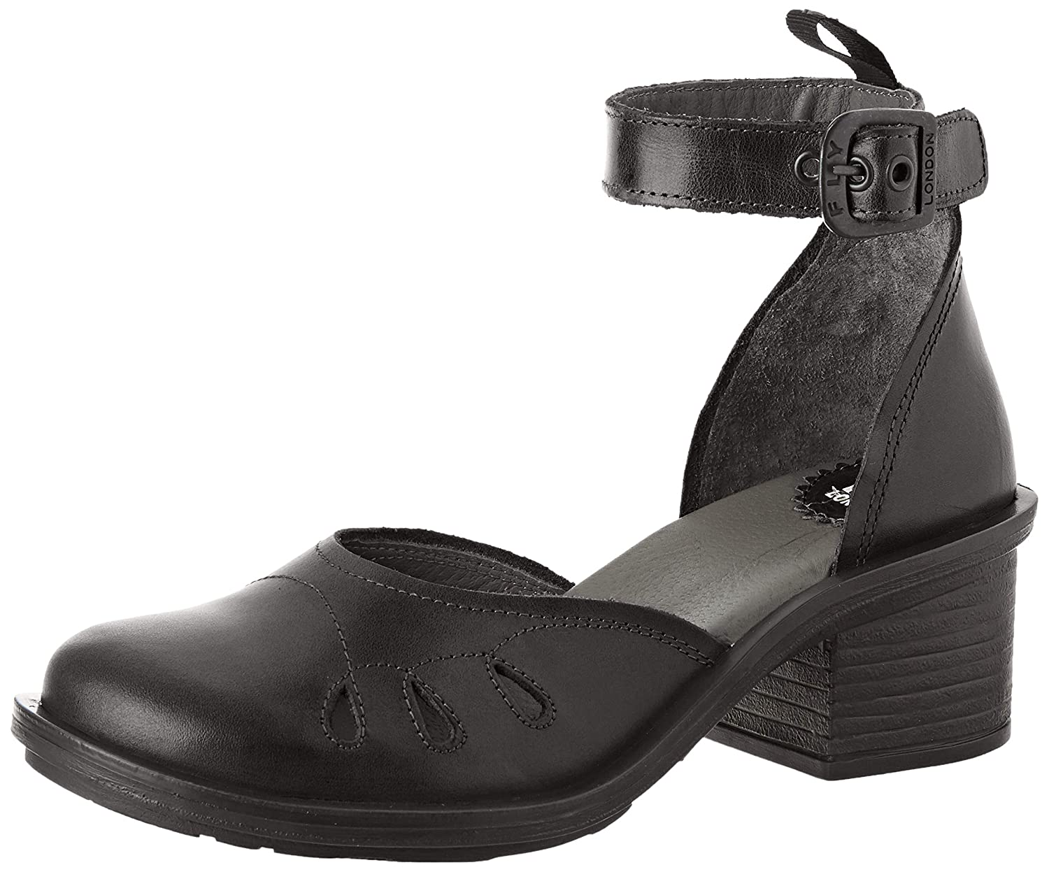 Schwarz(schwarz 000) Fly London Damen Cemi434fly Riemchenpumps