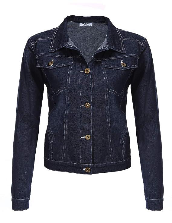 Zeagoo Veste Femme Matelassée Zip Bomber Jacket Manteau d'hiver de Poche Blouson Chaud