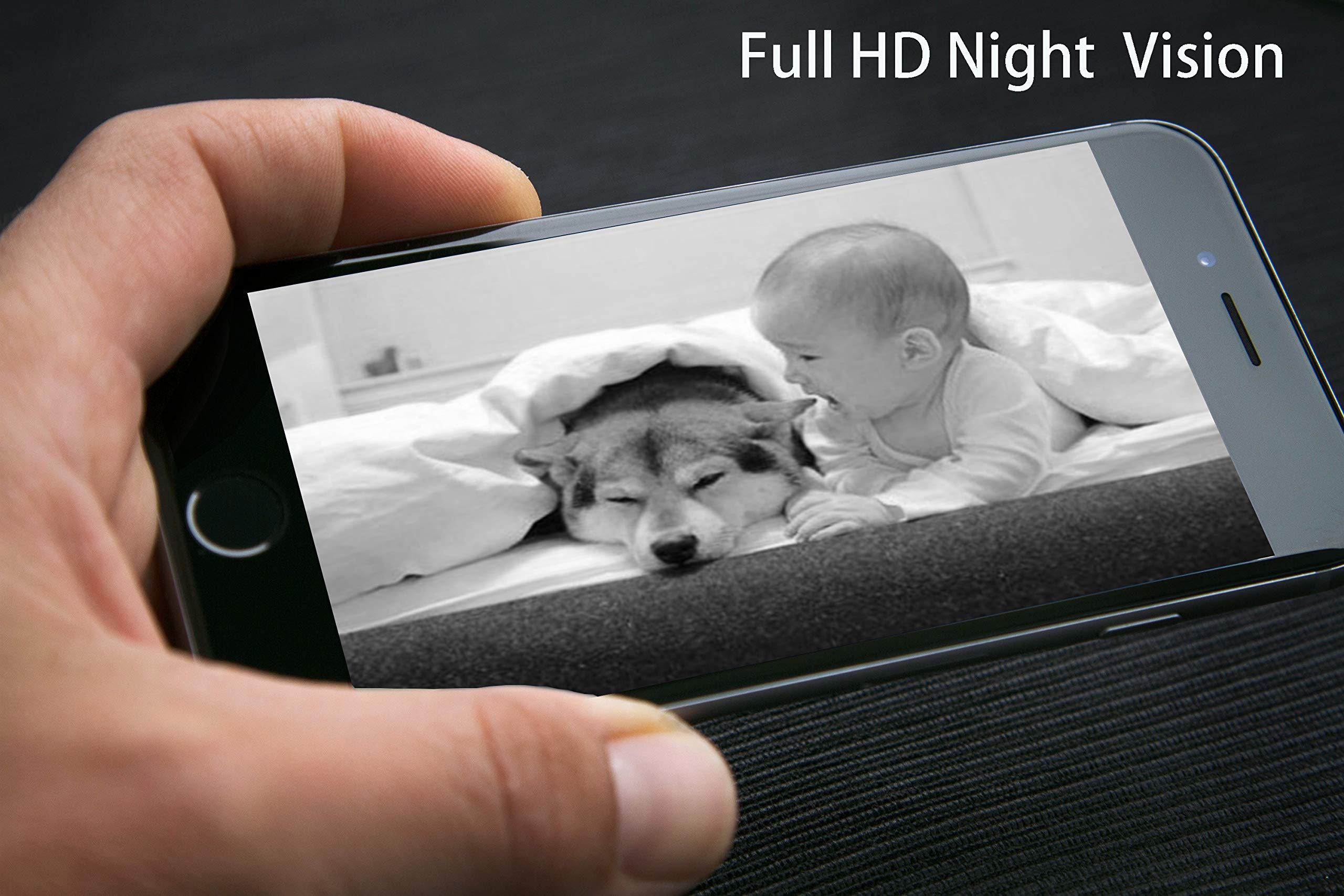 VINSION HD 1080p Pet Camera,Dog Camera 360° Pet Monitor Indoor Cat Camera with Night Vision and Two Way Audio 3