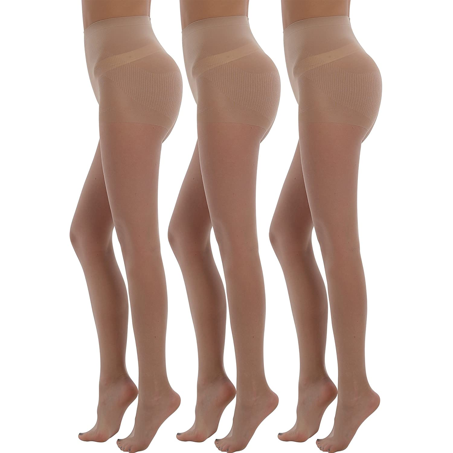 0169e03cafb 20 Denier Bodyshaper Tights Shape your waist with the built-in control top.  Non-binding