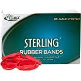 "Alliance Rubber 94645 Sterling Rubber Bands Size #64, 1 lb Box Contains Approx. 425 Bands (3 1/2"" x 1/4"", Red)"