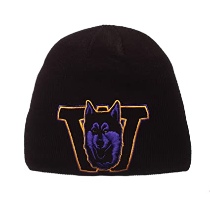 5779953cb05 Image Unavailable. Image not available for. Color  ZHATS Washington Huskies  XRAY Big Logo Black Skull Cap - NCAA Adult Cuffless Winter Knit Beanie