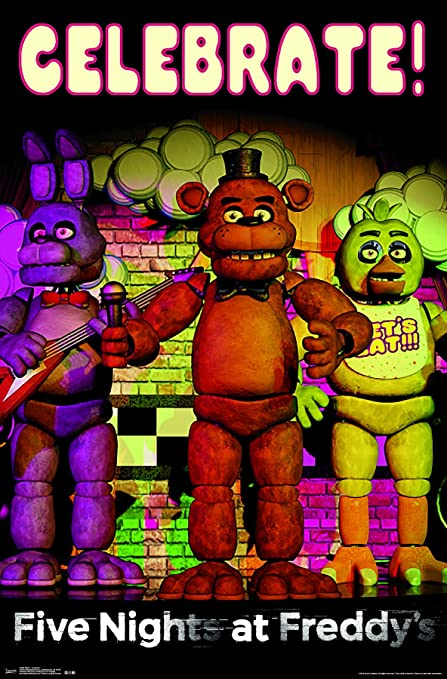 Trends International Five Nights At Freddy's-Celebrate Premium Wall Poster,  22 375