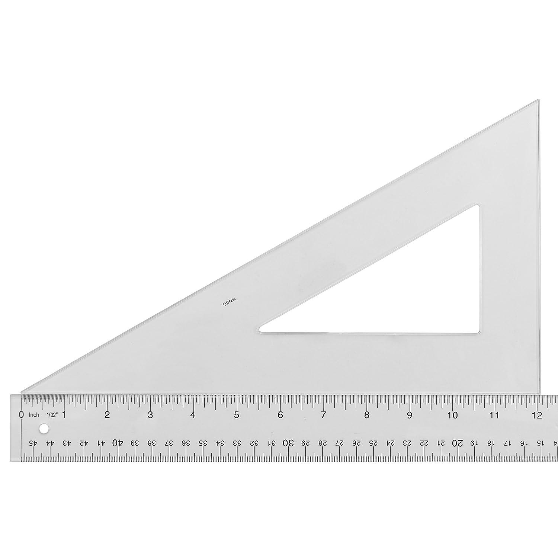 Westcott 404.608 C-Thru Polystyrol, 30/60 Grad Triangular Lineal, 12