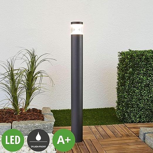 LED Lámpara para exterior Tamiel (Moderno) en Negro hecho de Aluminio (1 llama, A+) de Lindby | iluminación de senderos, baliza, iluminación de senderos, farola: Amazon.es: Iluminación