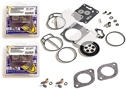 Sea Doo 947 951 GTX GSX XP Twin Carb Rebuild Kit With Needle Seat & Base  Gaskets