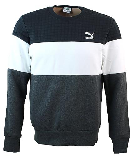 Puma SC Game Crew – Sudadera Hombre Color Gris, Negro y Blanco XS