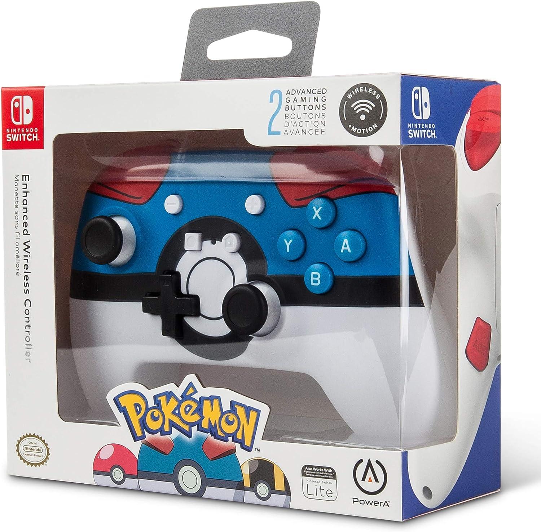 PowerA - Mando inalámbrico mejorado Pokémon Great Ball (Nintendo ...