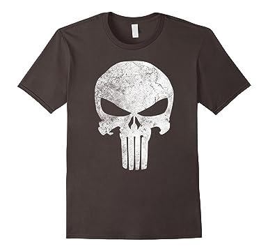 e560bedd8 Mens Marvel Punisher Skull Symbol Distressed Graphic T-Shirt 2XL Asphalt