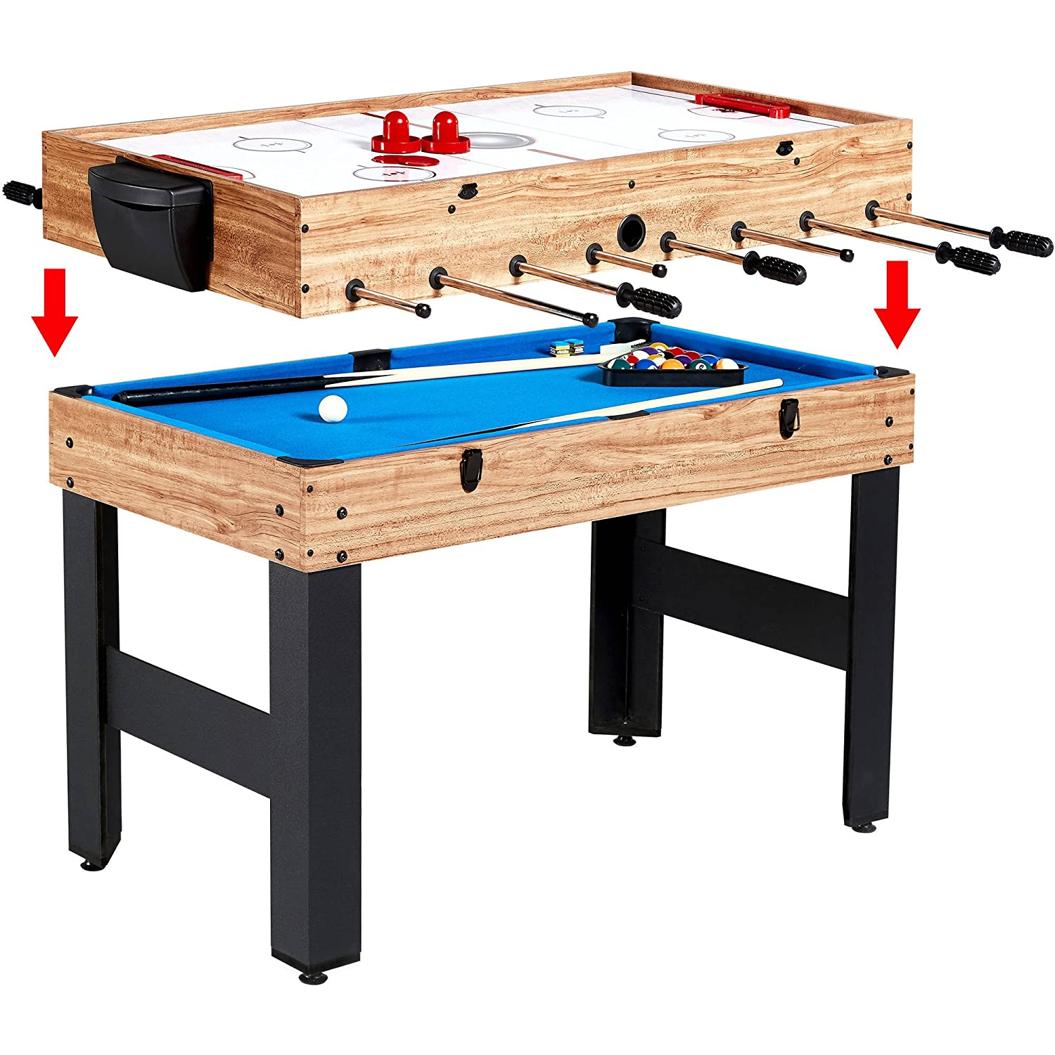 Amazon game table md sports multi game combo 3 in 1 table 48 amazon game table md sports multi game combo 3 in 1 table 48 having fun with family sports outdoors gamestrikefo Images
