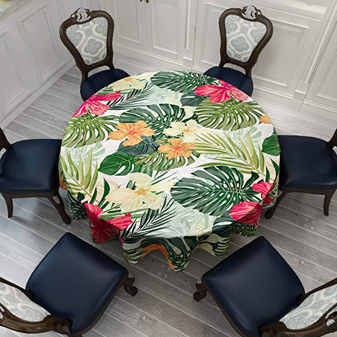 Heading To Diamond Head by hootenannit Tropical Island Cotton Sateen Circle Tablecloth by Spoonflower Hawaii Round Tablecloth