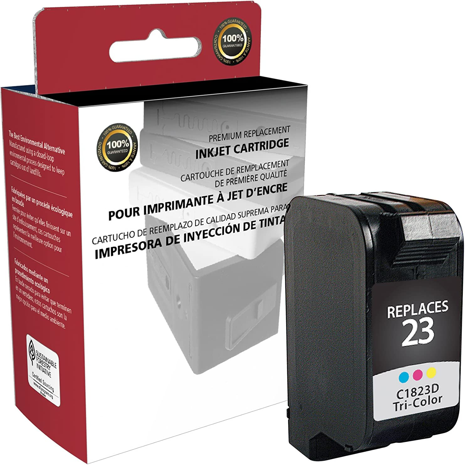 Inksters of America Remanfactured Ink Cartridge Replacement for HP 23 Tri-Color (C1823D)