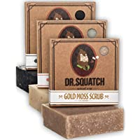 Dr. Squatch Men's Soap Variety Pack – Manly Scent Bar Soaps: Pine Tar, Cedar Citrus, Gold Moss – Handmade with Organic…
