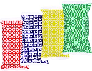 TruHealth Small Ice Packs for Lunch Bags - 4 Long Lasting Reusable Freezer Packs to Keep Food Cool & Fresh - Ice Packs for Coolers & Lunch Boxes - Picnic, Camping, Diaper Bags, Kids and Adults