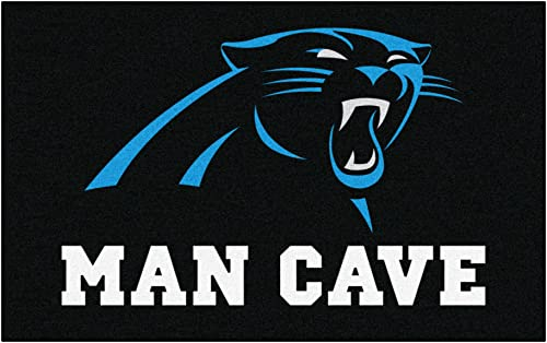 FANMATS 14278 NFL Carolina Panthers Nylon Universal Man Cave UltiMat Rug