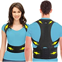 SOMAZ Posture Corrector for Men Women Kids, Adjustable Back and Shoulder Brace for Rounded Shoulders