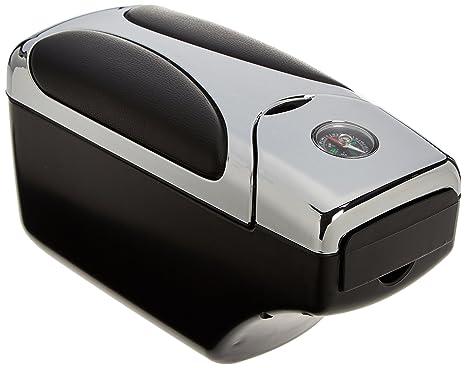 10MA03 - coche Auto universal Apoyabrazos soporte Caja de Consola con compartimiento de almacenamiento CROMO