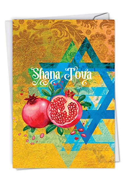Amazon shana tova greetings jewish new year card featuring shana tova greetings jewish new year card featuring hebrew text and religious imagery for the m4hsunfo