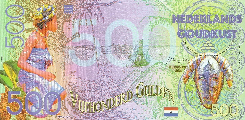 I 2016 500 Gulden Polymer Niederl/ändisch Guinea Pick-Nr: A3 bankfrisch Banknoten f/ür Sammler