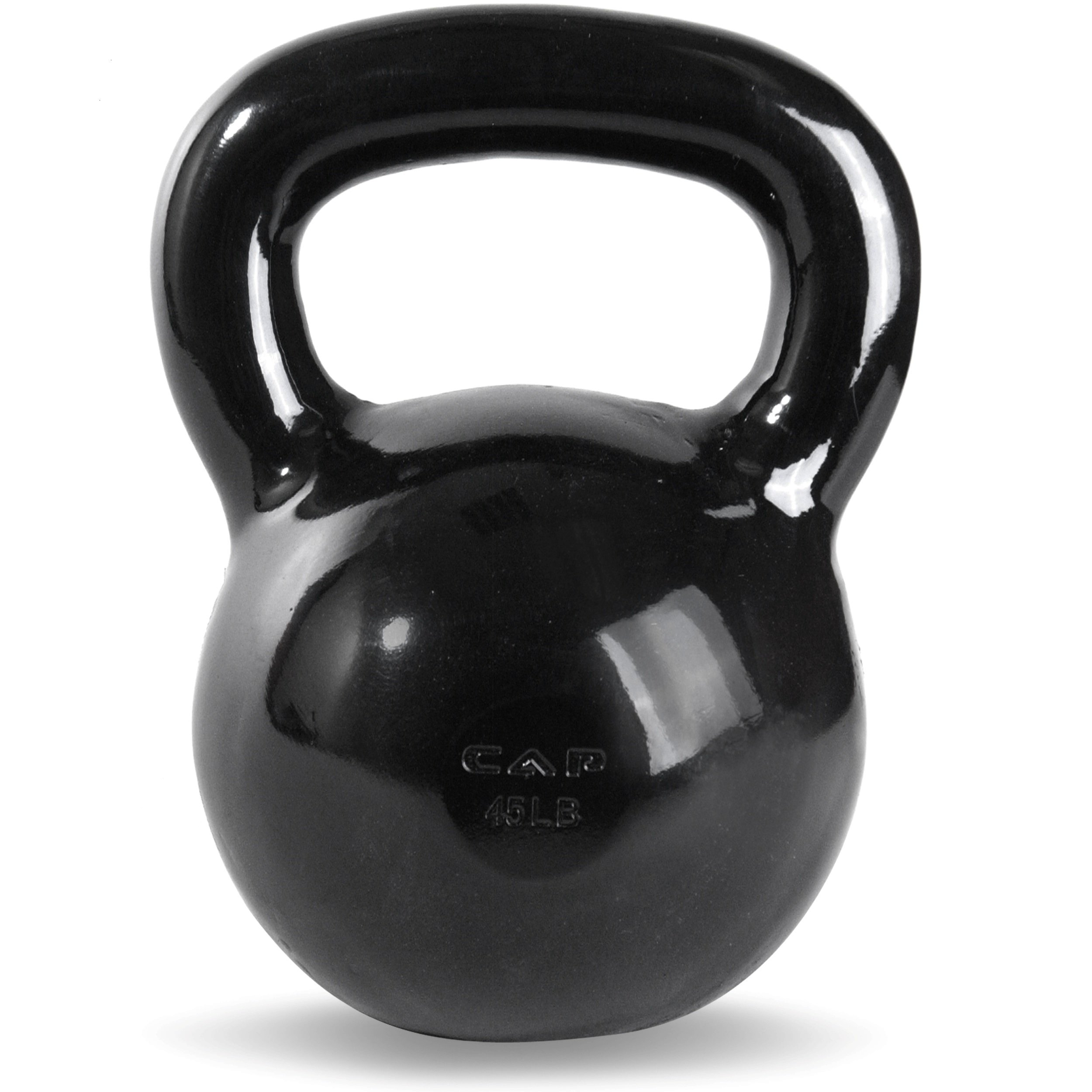 CAP Barbell Black Powder Coated Cast Iron Kettlebell, 45-Pound