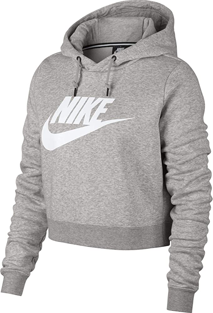 Nike Womens Rally Hoodie Crop Top Sweatshirt