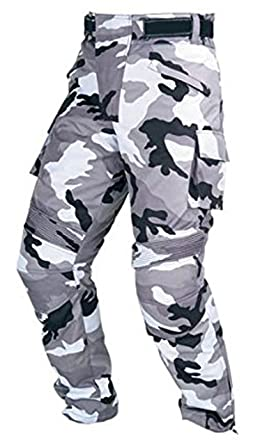 Hilbro New Mens Camo Motorbike Motorcycle Pants Armoured Waterproof Textile Trousers
