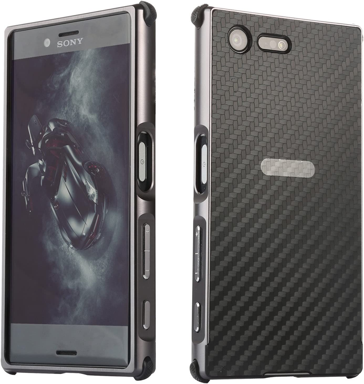 LXHGrowH Funda Sony Xperia XZ Premium, Prueba de Golpes Aluminio ...