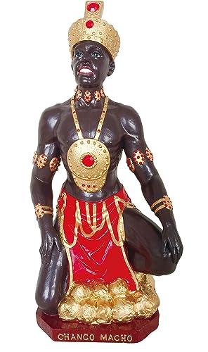 Santo Orisha Shango Statue Orisha Chango Statue Chango Estatua African Statue 8.5 Inch