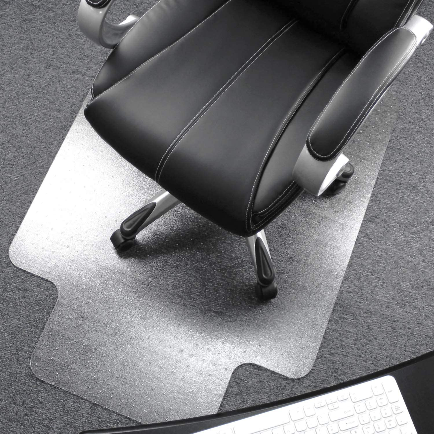 Details about  /Professional Clear 45 in x 53 inch Carpet Vinyl Chair Mat Vinyl Waterproof