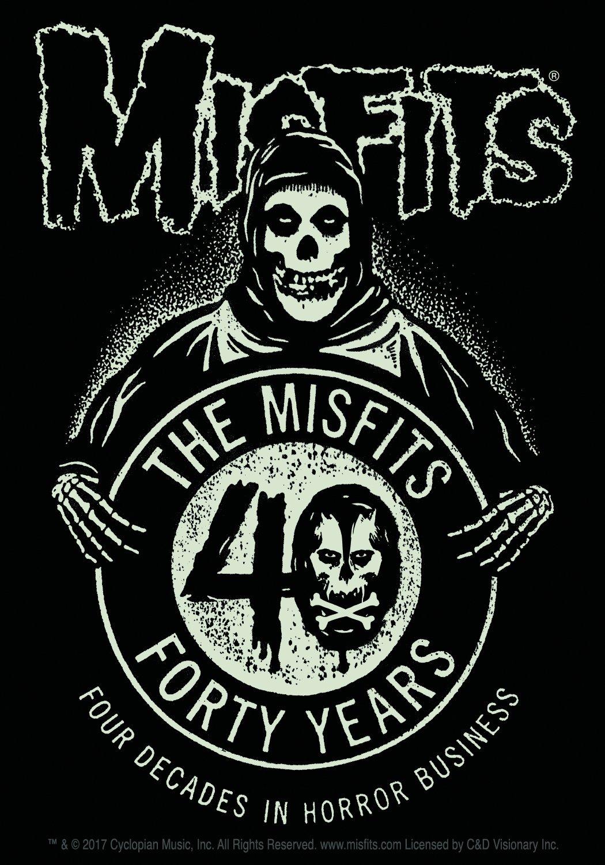 C/&D Visionary Misfits 40th Anniversary Sticker