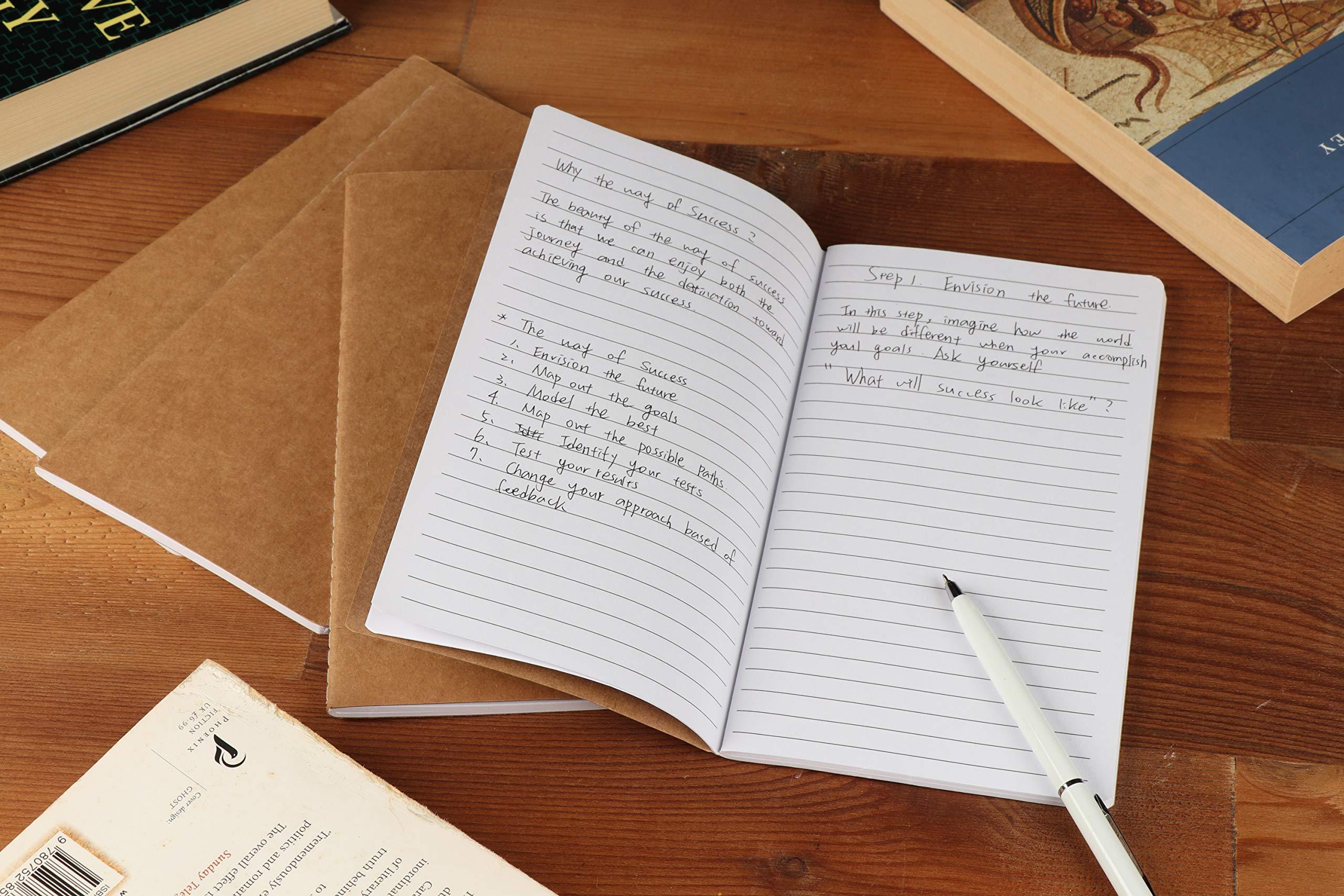 Leicht und Handlich Braun Paper Junkie Mini-Notizhefte mit Kraftpapier-Cover f/ür Skizzen - Liniert 6,8 cm x 11,4 cm 32 Blatt Ideal als Reisetagebuch Set, 12 St/ück Kreatives Schreiben