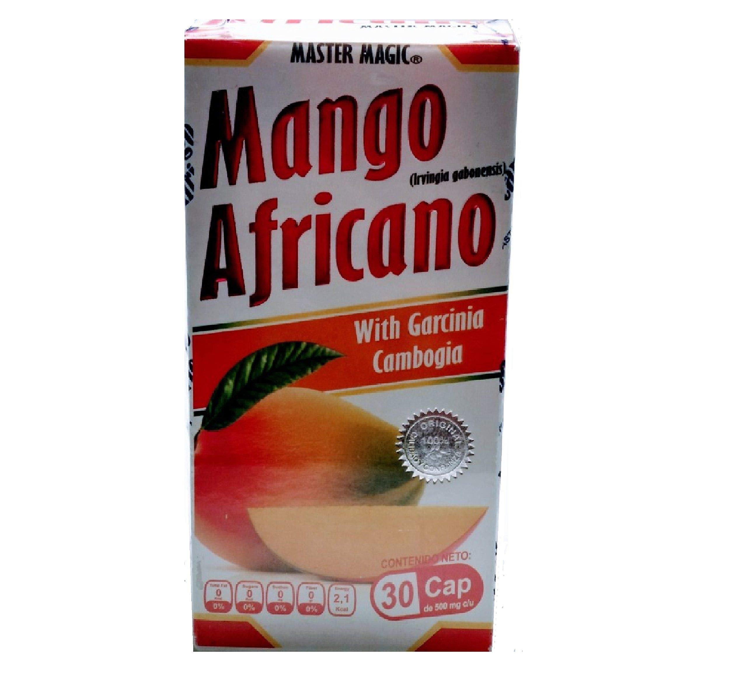 Mango Africano Master Magic, African Mango Reinforced 30 Capsules 500 milligrams, Natural Weight Loss