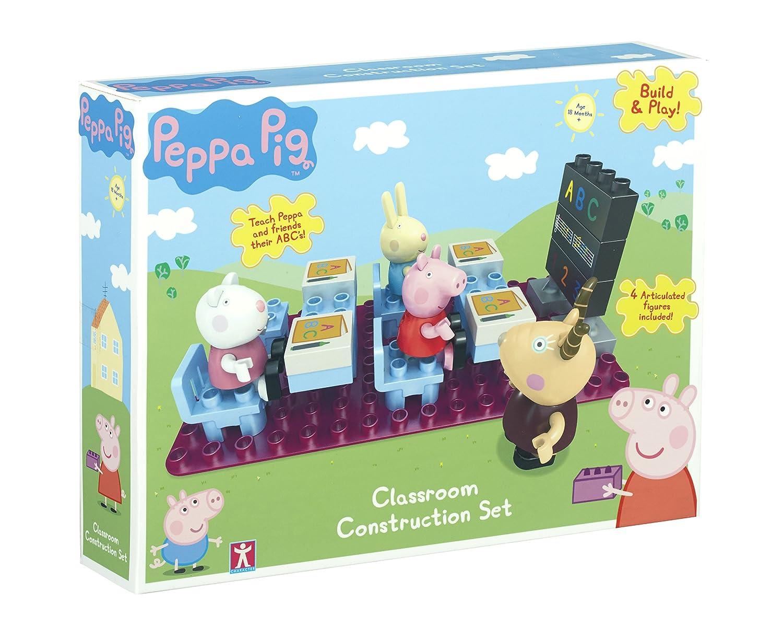 Peppa Pig - Build  Play - El Aula - 4 Mini Figuras Conjunto de la construcción