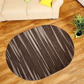 Amazon.de: Teppich Wohnzimmer Oval - Teppiche Meliert Kurzflor ...