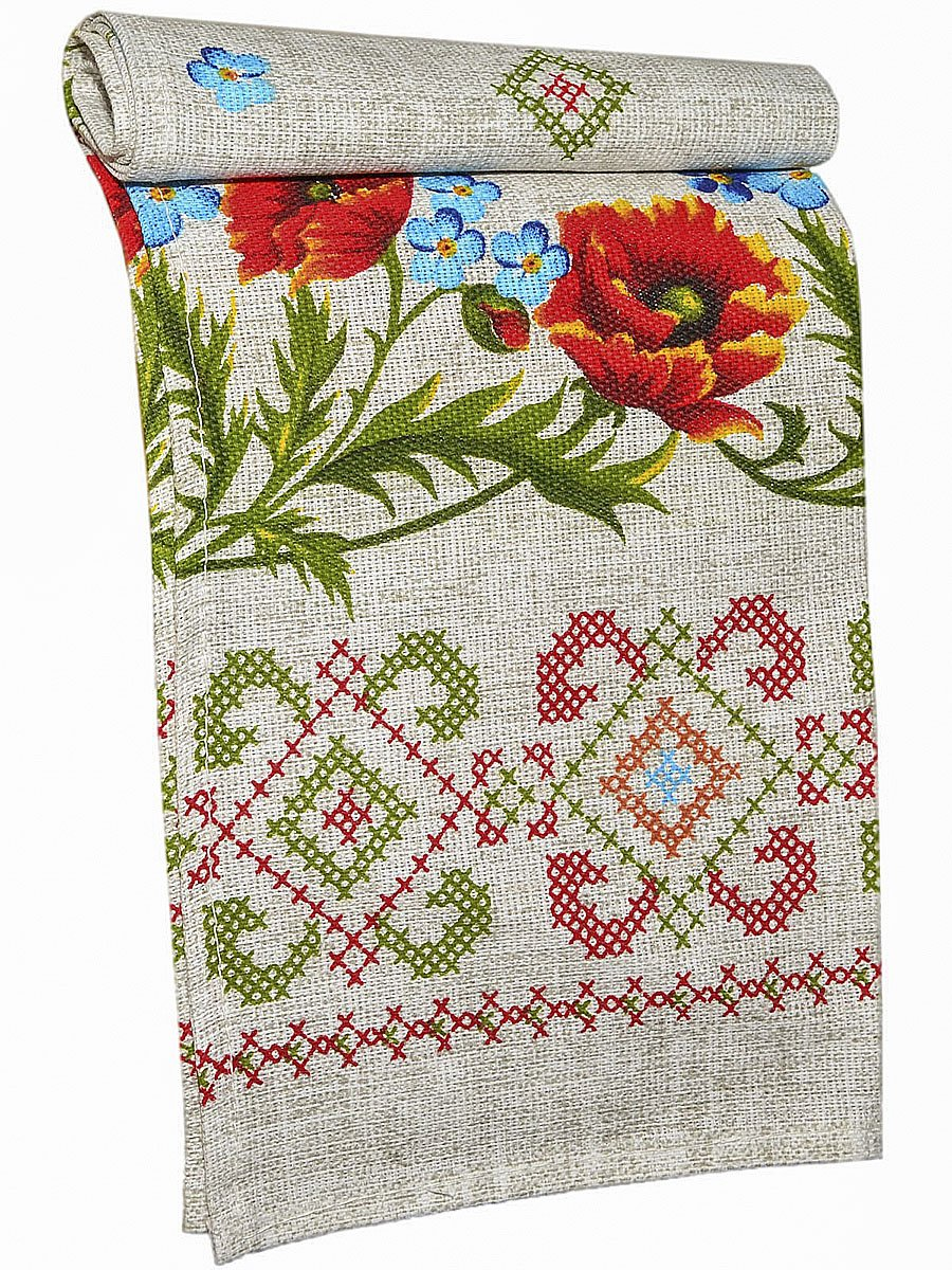 Set of 6 Cotton Kitchen Towel Set Linen style Gifted Embroidery 14''x29'' Machine Washable Heavy Duty Everyday Use Dish cloth For Dinner Parties, Summer & Outdoor Picnics, Decorative Vintage Design