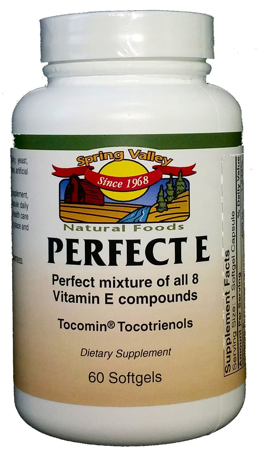 Spring Valley Natural Foods Perfect E 60 Softgels