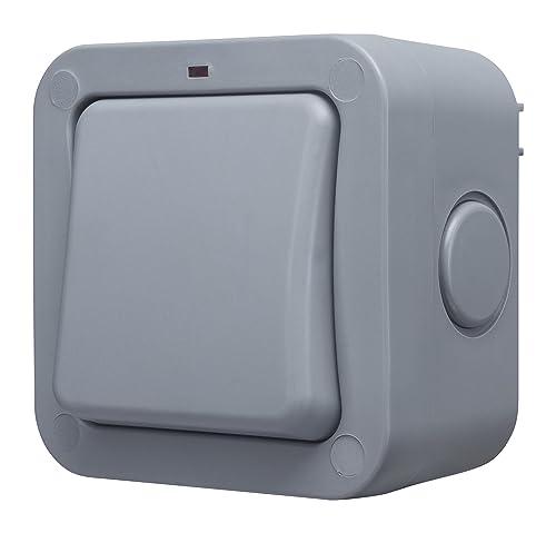 1 Gang 2 Way IP55 Weatherproof 20 Amp Outdoor Light Switch: Amazon ...