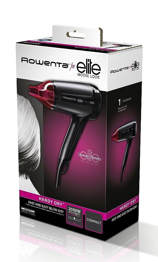 Rowenta CV1612 2000W Negro, Rosa - Secador de pelo (Negro ...