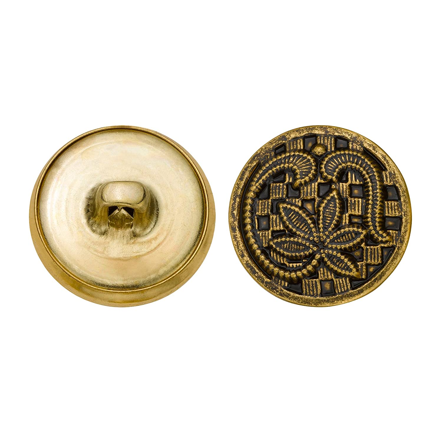 Antique Gold Size 30 Ligne 36-Pack C/&C Metal Products Corp C/&C Metal Products 5140 Leaf Over Checkers Metal Button